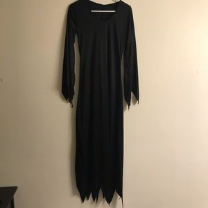 Dresses & Skirts - Halloween Dress All Black Witch Vampire Ghost